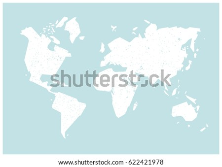 World map simple world map white vectores en stock 622421978 world map simple world map white world map on a blue background gumiabroncs Gallery
