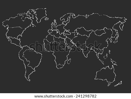 World map sketch. Vector illustration. - stock vector