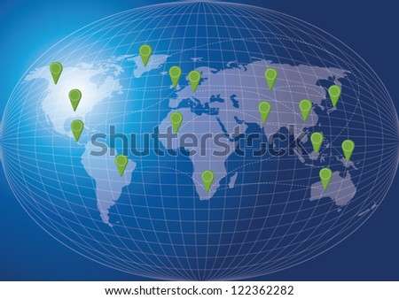 World map social network concept-Vector Illustration EPS10. - stock vector