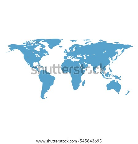 World map main outlines continents flat stock vector 545843695 world map the main outlines of the continents flat design abstract concept gumiabroncs Gallery