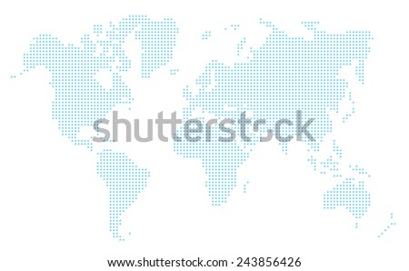 World map Vector - stock vector