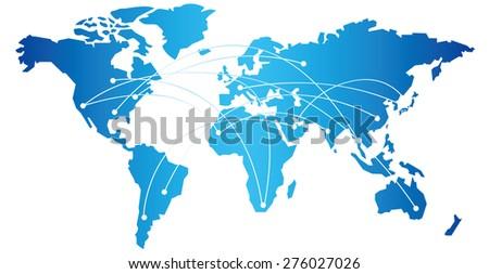World map Vector - stock vector