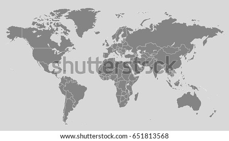World map vector stock vector hd royalty free 651813568 shutterstock gumiabroncs Choice Image