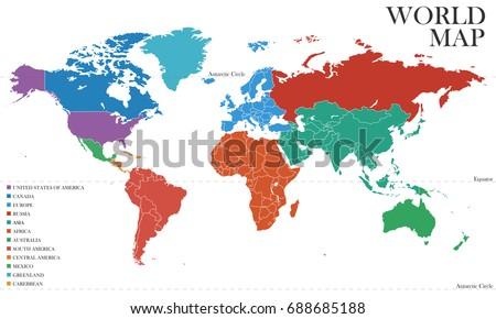 World map vector stock vector 2018 688685188 shutterstock gumiabroncs Choice Image