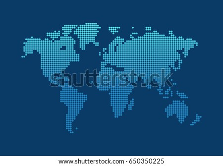 World map vector background website design stock vector 650350225 world map vector background for website design network flat style gumiabroncs Gallery