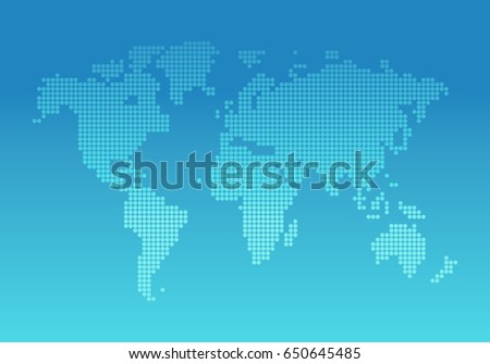 World map vector background website design vectores en stock world map vector background for website design network flat style gumiabroncs Gallery
