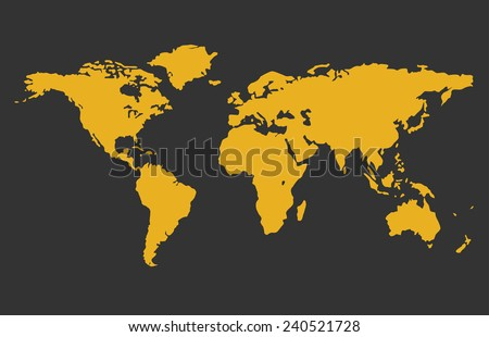 World map vector grey orange colors stock vector 240521728 world map vector grey and orange colors map vector gumiabroncs Gallery