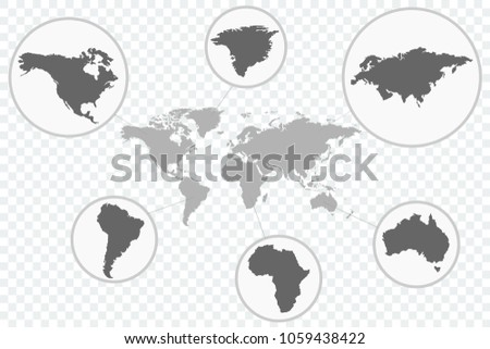 World map vector icon parts earth stock vector 1059438422 shutterstock world map vector icon with parts of the earth gumiabroncs Images