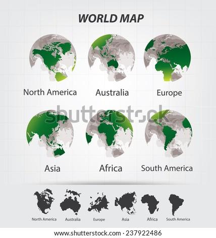 World Map vector Illustration - stock vector