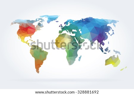 World map vector illustration. - stock vector