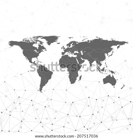 world map vector illustration, background for communication - stock vector