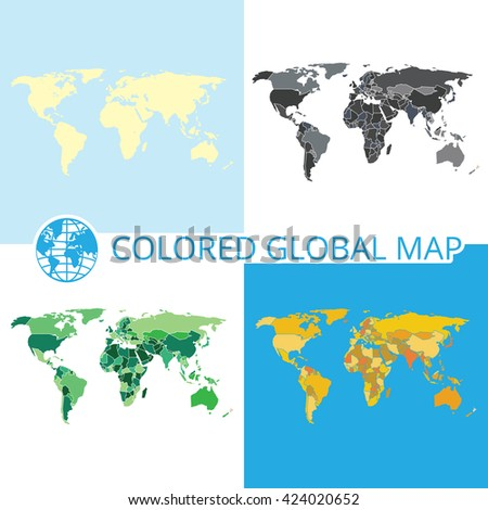 World map vector illustration highquality image vector de world map vector illustration high quality image in the style of broken lines gumiabroncs Images