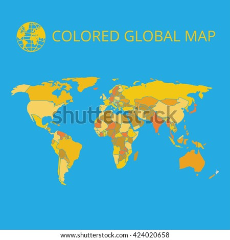 World map vector illustration highquality image stock vector world map vector illustration high quality image in the style of broken lines gumiabroncs Image collections