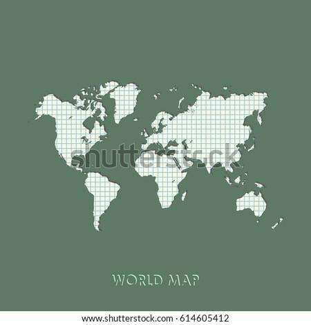World map vector illustration mercator projection stock photo photo world map vector illustration mercator projection worldmap gumiabroncs Choice Image