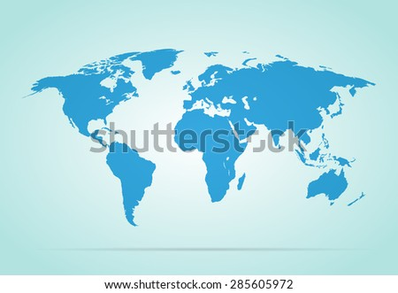 World map vector illustration on gray background stylish - stock vector