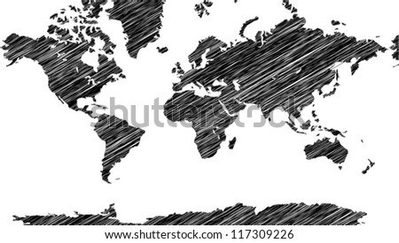 World Map Vector line Illustrator, EPS 10. Elements of this image furnished by NASA. - stock vector