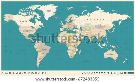 Httpsthumbshutterstockcomdisplaypicwithl - Picture of a world map