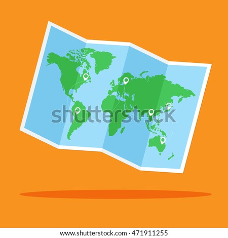 World map vector location point flat stock photo photo vector world map vector with location point flat design for business financial marketing banking advertisement commercial gumiabroncs Gallery