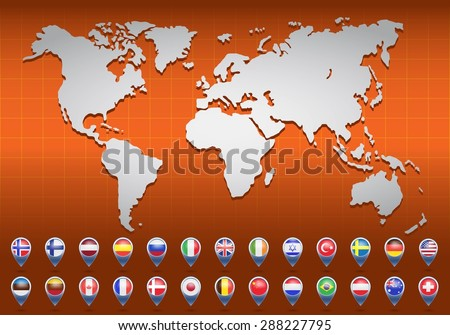 World map flags different countries vector stock vector 288227795 world map with flags of different countries vector illustration gumiabroncs Images