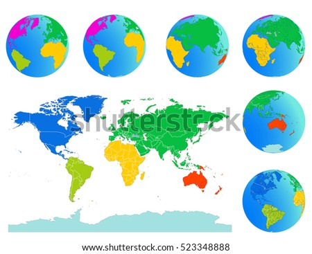 World map globes detailed editable vector stock vector 523348888 world map with globes detailed editable vector include outline national border lines and individual gumiabroncs Gallery