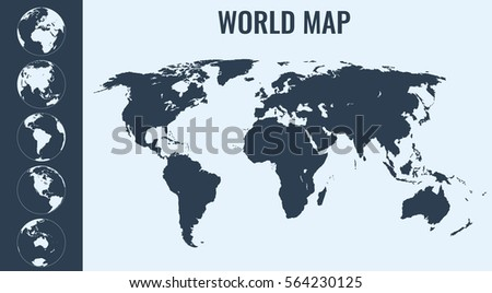 World map globes infographic map vector stock vector 564230125 world map with globes infographic map vector gumiabroncs Choice Image