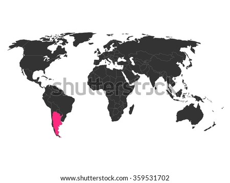 World map highlighted argentina stock vector 359531702 shutterstock world map with highlighted argentina gumiabroncs Images