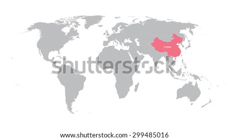 World map g7 countries eps8 vector vectores en stock 229866409 world map with indication of china gumiabroncs Images