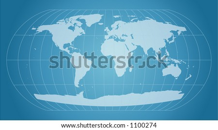 world map with retro style - stock vector