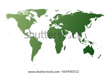 World map without borders vector illustration flat design