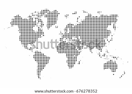 World map world map dots pop vectores en stock 676278352 shutterstock world map world map dots pop art style background vector gumiabroncs Images