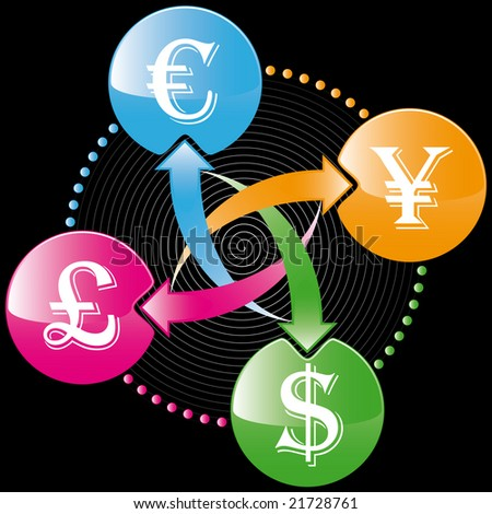 world money exchange icon - stock vector