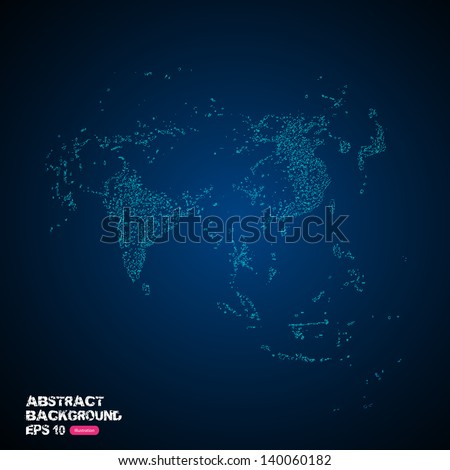 World neon vector, easy editable - stock vector