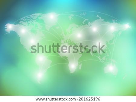 world network communication  - stock vector