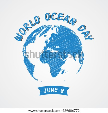 World Ocean Day. World Water Day campaign poster