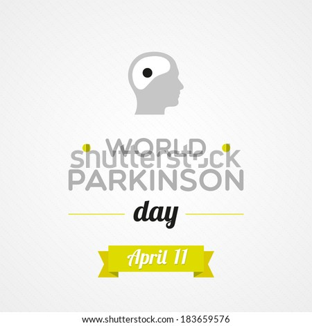 World Parkinson Day - stock vector