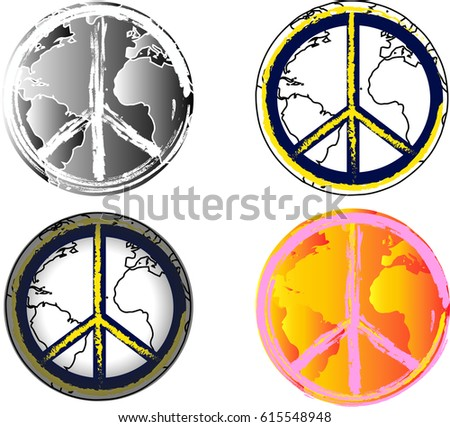 World Peace Vector Icons Universal Sign Stock Vector Hd Royalty
