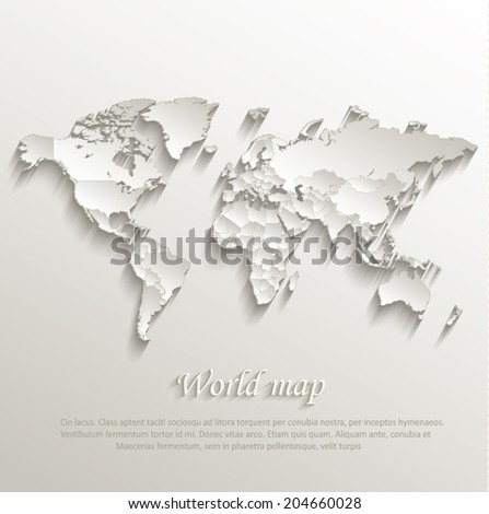 World political map card paper 3d vectores en stock 204660028 world political map card paper 3d natural vector individual states separate gumiabroncs Images