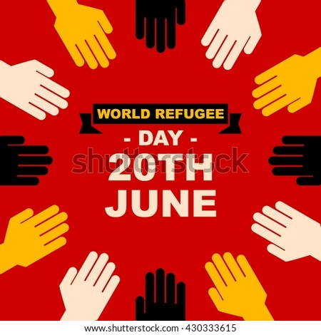 World Refugee Day Campaign Poster Refugee Stock Vector 430333615 ...