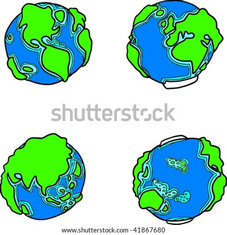 World's Faces - stock vector