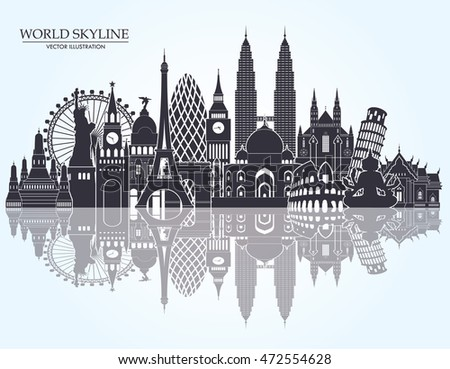 world skyline travel tourism background vector stock new york city victorian mansions new york city vector free