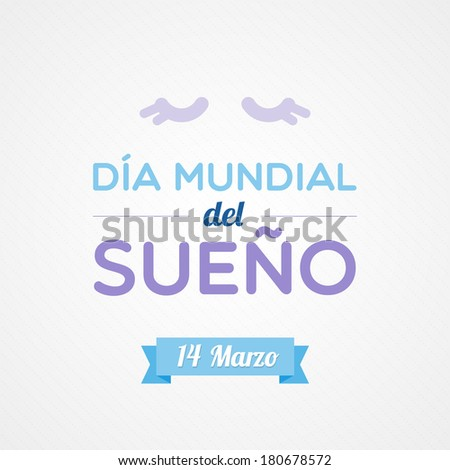 World Sleep Day in Spanish - stock vector