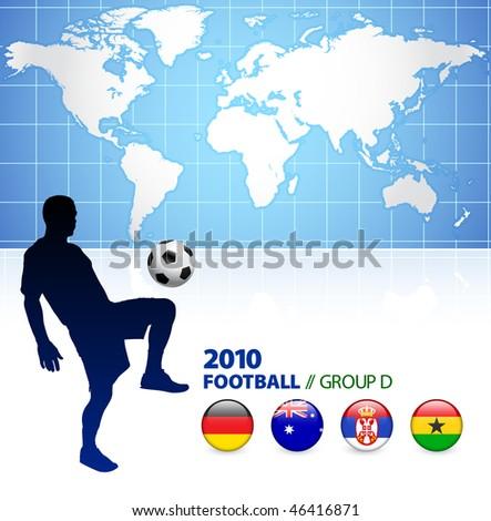 World Soccer Football Group D Original Vector Illustration - stock vector