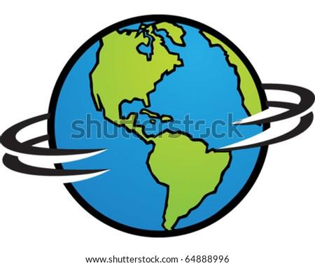 World Spinning - stock vector