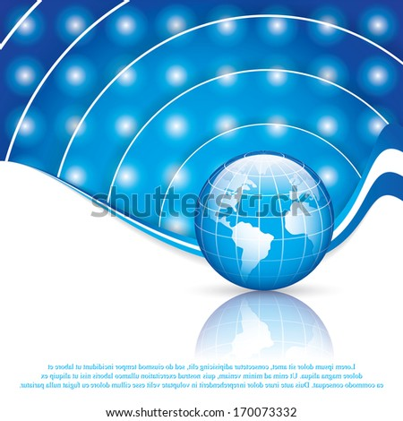 World technology brochure vector
