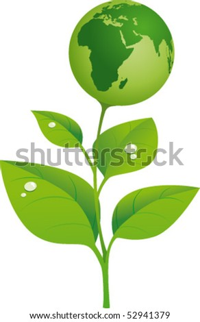 World that comes from a plant - stock vector