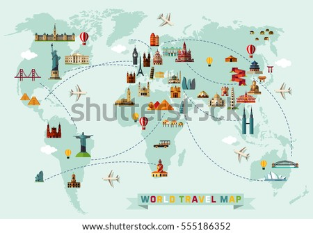 Typography poster africa map africa travel vectores en stock world travel map vector illustration gumiabroncs Images