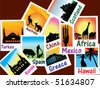 World travel pictures vector - stock vector