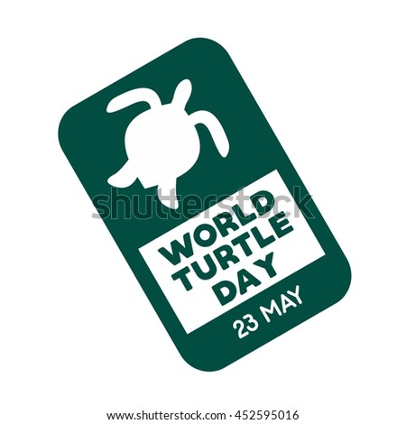 World Turtle Day Design Template. Vector illustration. Flat Style Design