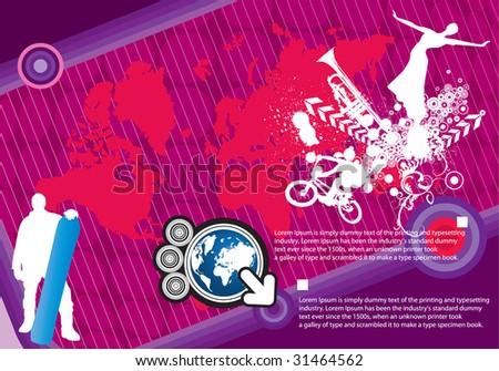 World vector composition - stock vector