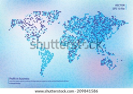World vector map - stock vector